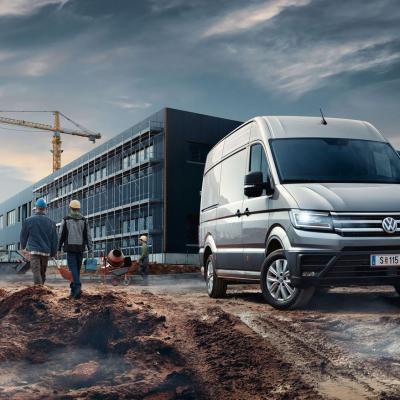Vw Crafter 2016 Baustelle